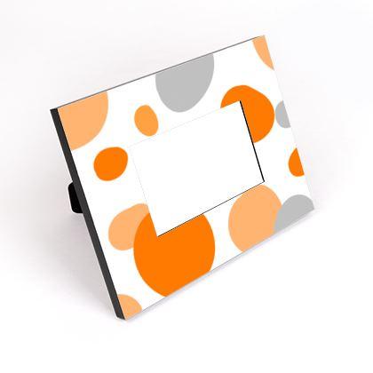 Orange Joy - Frame - abstract bright spots, cheerful gift sunny summer