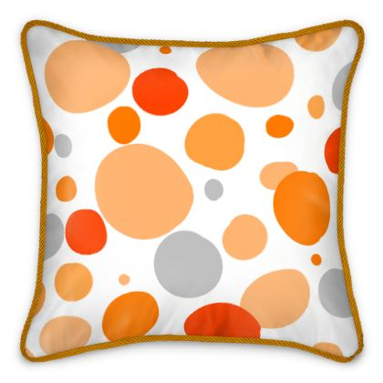 Orange Joy - Silk Cushios - abstract bright spots cheerful gift summer