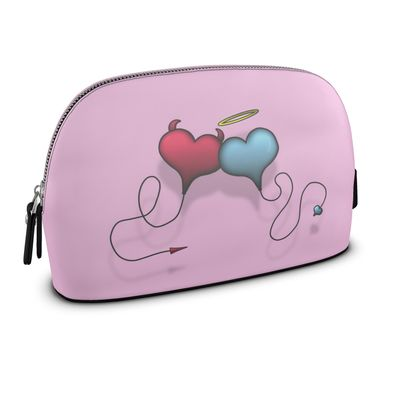 Large Premium Nappa Make Up Bag - Opposite Attraction