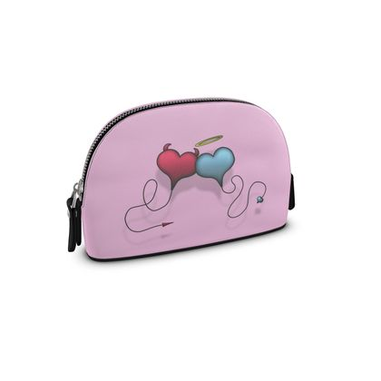 Small Premium Nappa Make Up Bag - Opposite Attraction