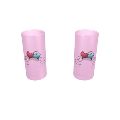 Large Round Shot Glass 2 Set - Opposite Attraction