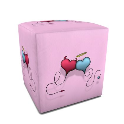 Square Pouffe - Opposite Attraction