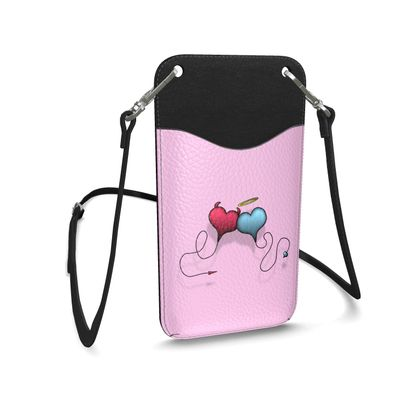 Leather Phone Case With Strap - Opposite Attraction