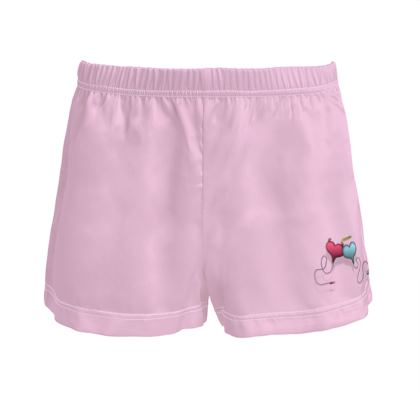 Ladies Silk Pyjama Shorts - Opposite Attraction