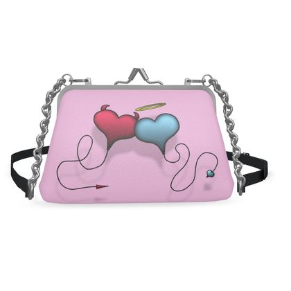 Small Flat Frame Bag - Opposite Attraction