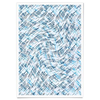 Paper Posters - Petri Family Blue Remix