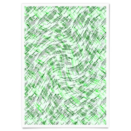 Paper Posters - Petri Family Green Remix