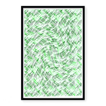 Framed Art Prints - Petri Family Green Remix