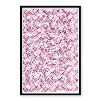 Framed Art Prints - Petri Family Pink Remix