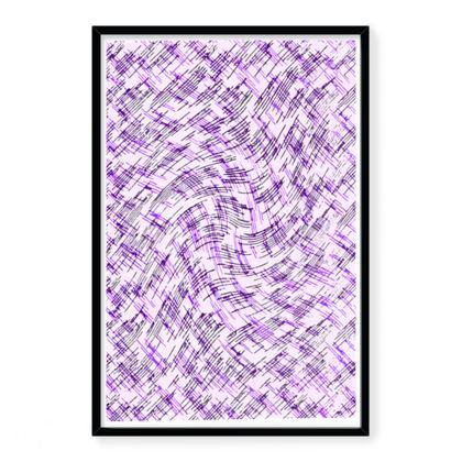 Framed Art Prints - Petri Family Purple Remix
