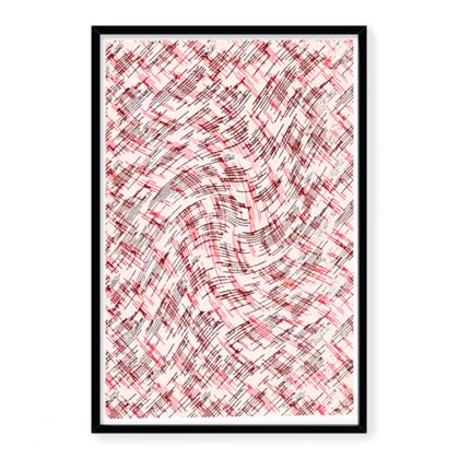 Framed Art Prints - Petri Family Red Remix