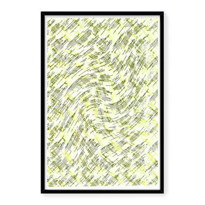 Framed Art Prints - Petri Family Yellow Remix