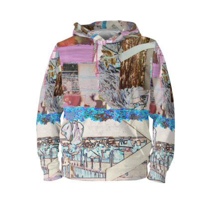 Multi Coloured Hoodie with Abstract Design