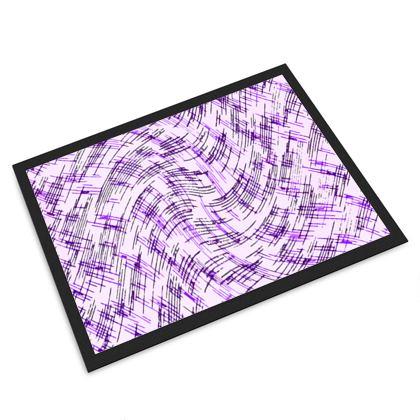 Door Mat - Petri Family Purple Remix