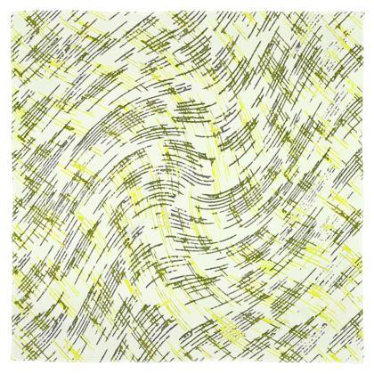 Scarf Wrap Or Shawl - Petri Family Yellow Remix