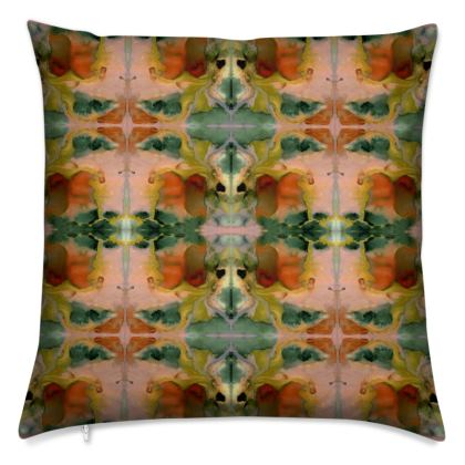 RORSCHACH I Velvet Cushion With Contrasting Side