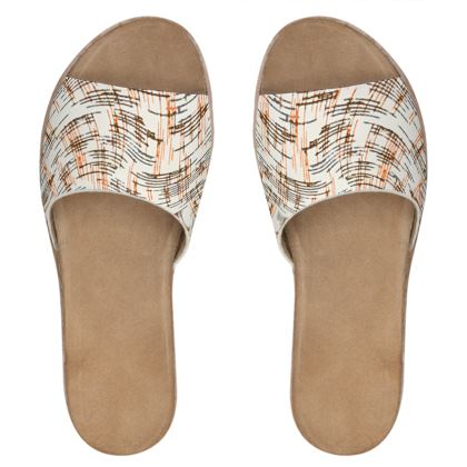 Womens Leather Sliders - Petri Family Remaster