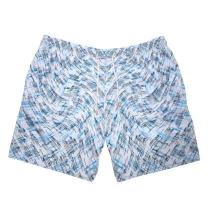 Mens Swimming Shorts - Petri Family Blue Remix