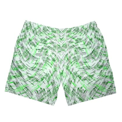 Mens Swimming Shorts - Petri Family Green Remix