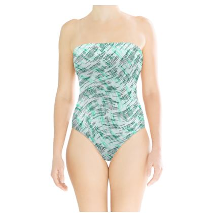 Strapless Swimsuit - Petri Family Jade Remix