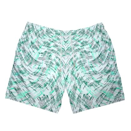 Mens Swimming Shorts - Petri Family Jade Remix
