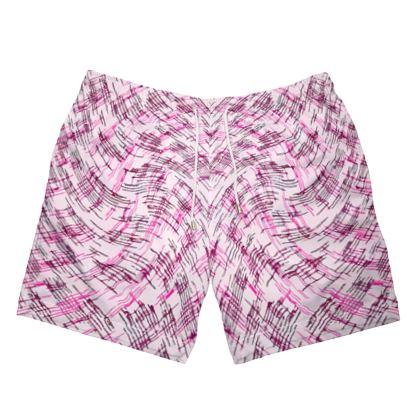 Mens Swimming Shorts - Petri Family Pink Remix