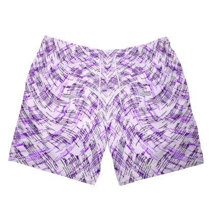 Mens Swimming Shorts - Petri Family Purple Remix