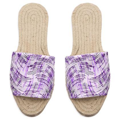 Sandal Espadrilles - Petri Family Purple Remix
