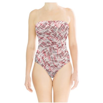 Strapless Swimsuit - Petri Family Red Remix
