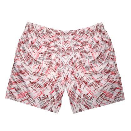 Mens Swimming Shorts - Petri Family Red Remix