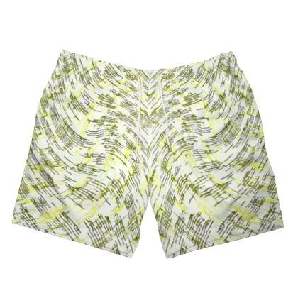 Mens Swimming Shorts - Petri Family Yellow Remix