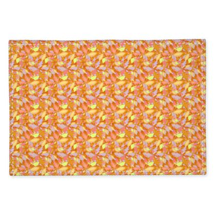 Fabric Placemats, Caramel, Yellow, Leaf  Diamond Leaves  Toffee