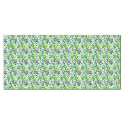 Tablecloth, Green, Yellow, Flower  Passionflower  Seaspray
