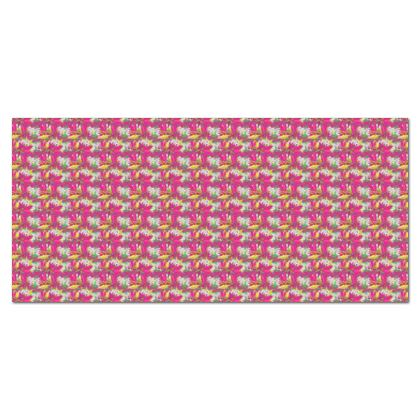 Tablecloth, Pink, Yellow, Flower  Jasmine  Ruby