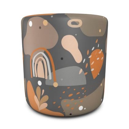 Round Pouffe Abstract 01