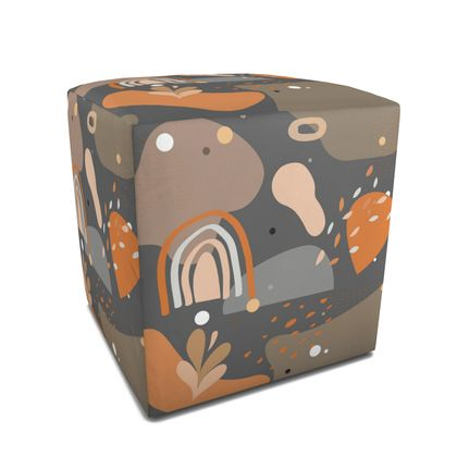 Square Pouffe Abstract 01