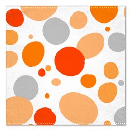 Orange Joy - Pocket Square abstract bright cheerful gift sunny summer