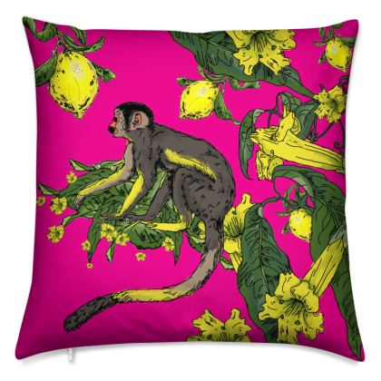 Jungle Print cushion - Pink