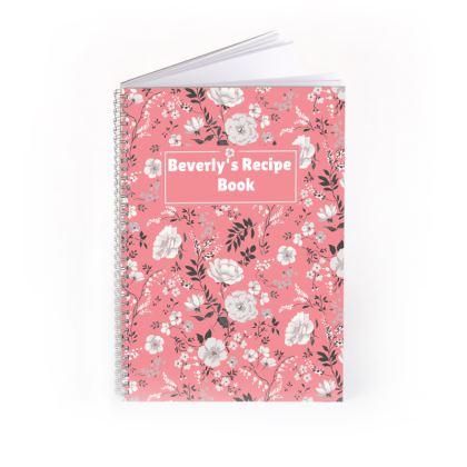 Floral Spiral Note Book
