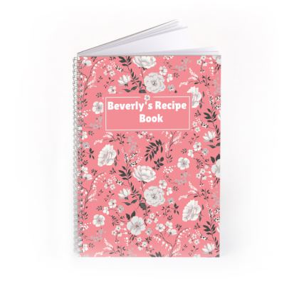 Floral Spiral Note Book