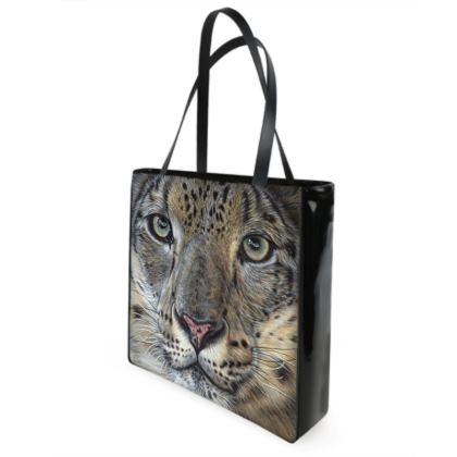 Big Cat Shopper Bags - Snow Leopard