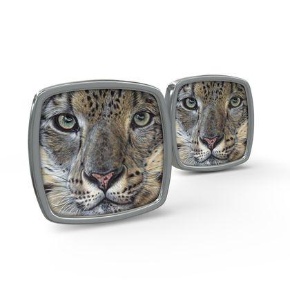 Big Cat Cufflinks - Snow Leopard