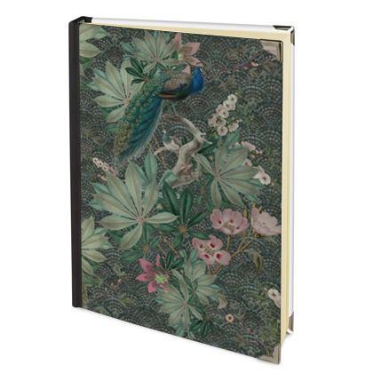 Peacock secret garden foliage journal