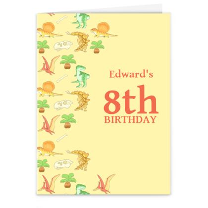 Large Dino Birthday Card