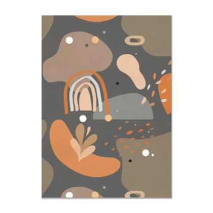 Printed Leather Scroll Abstract 01