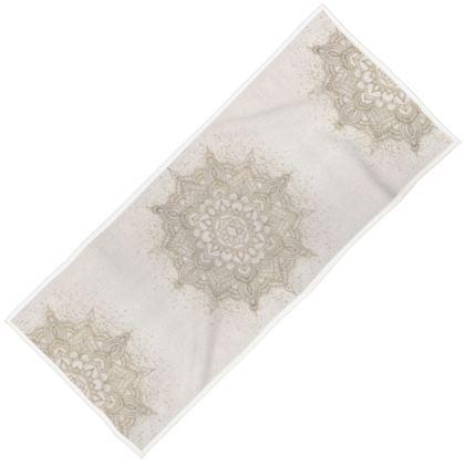 Beige golden mandala towel