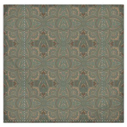 Bronze and green art deco duvet cover and pillow cases