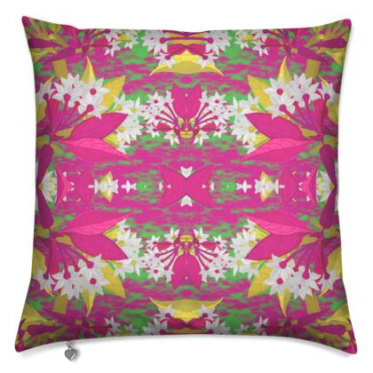 Cushions, Pink, White, Flower  Jasmine  Ruby
