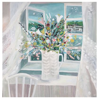Coasters in Natalie Rymer Sea Breeze design