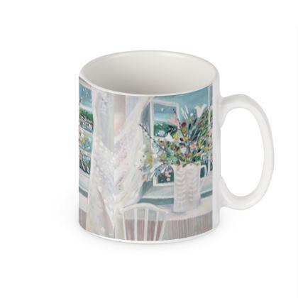 Mug in Natalie Rymer Sea Breeze design